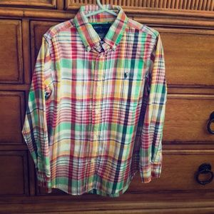 Ralph Lauren Boys Plaid Cotton Twill Shirt (7)